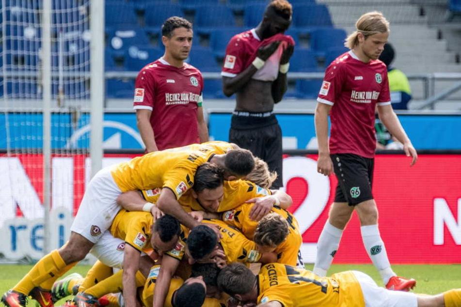 Dynamo konnte als bisher einzige Mannschaft der Liga in dieser Saison in Hannover einen Sieg bejubeln.