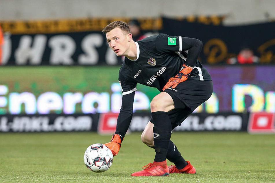 In den letzten beiden Begegnungen musste Dynamo-Keeper Markus Schubert fünf Mal hinter sich greifen.