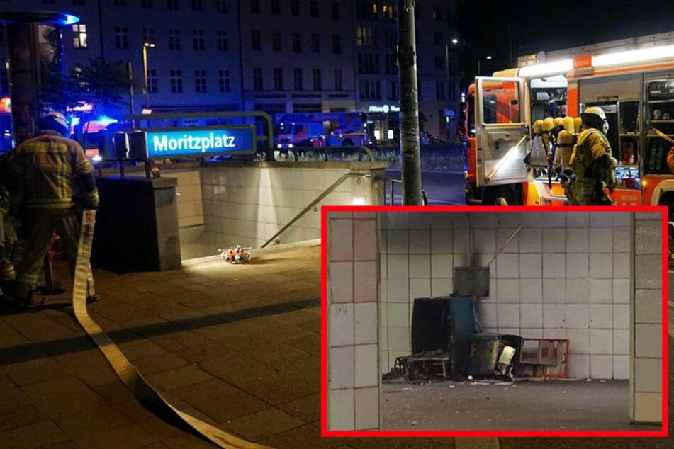 Station gesperrt: Geldautomat in U-Bahnhof gesprengt