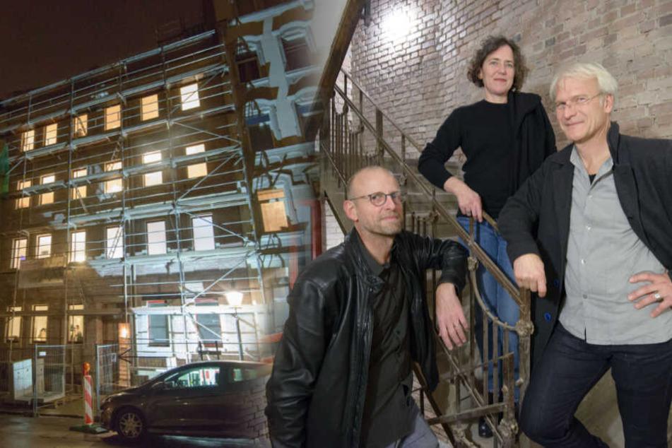 Freundliche Übernahme: Künstler besetzen saniertes Haus