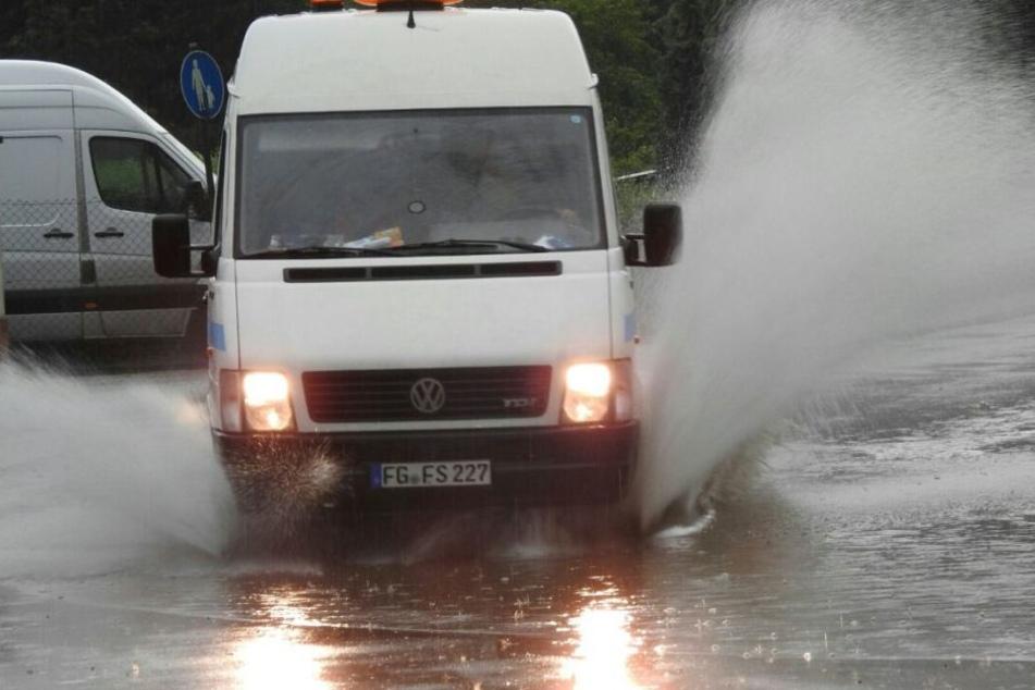 In Grimma wurden ganze Straßen unter Wasser gesetzt - hier die Wiesenstraße.