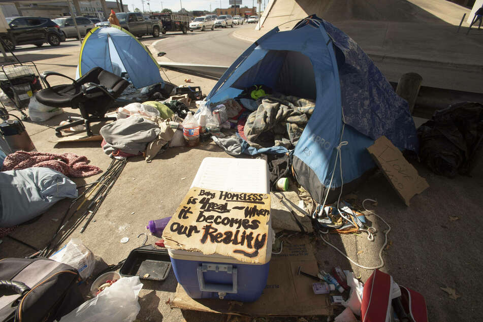 57% of Austinites who took part voted to ban homeless encampments in the city.