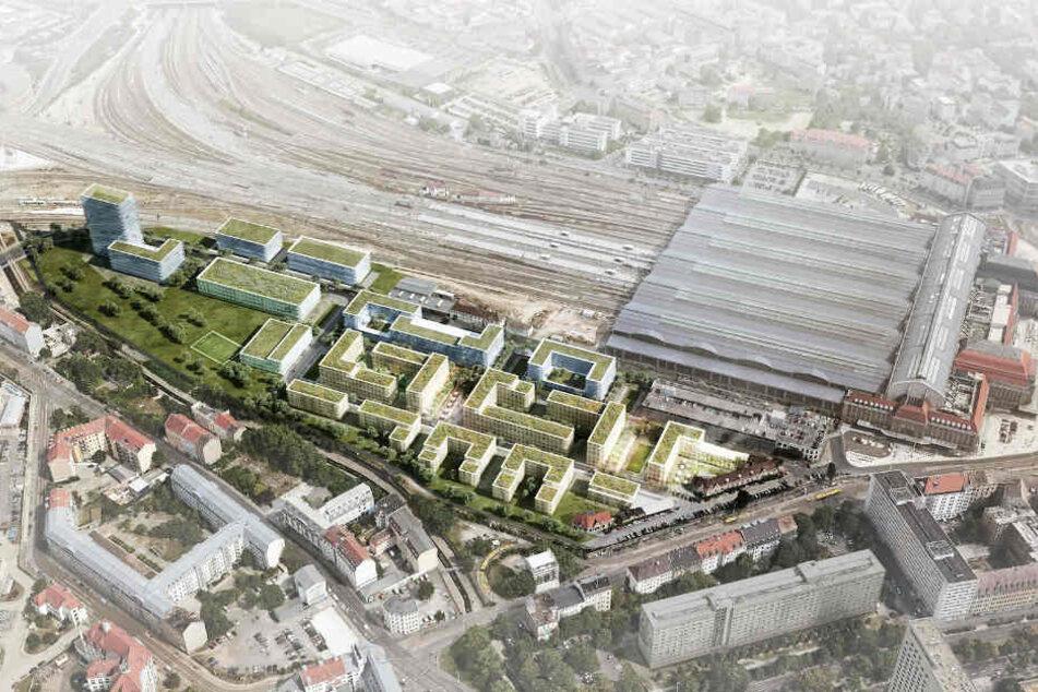 Auf der Westseite des Hauptbahnhofs soll das neue Viertel entstehen.