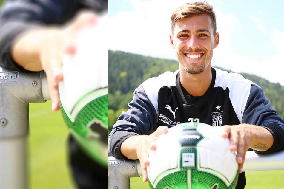 Sein Lächeln zeigt es: Der Ex-Dresdner Sinan Tekerci freut sich auf die neue Herausforderung beim Drittligisten FSV Zwickau