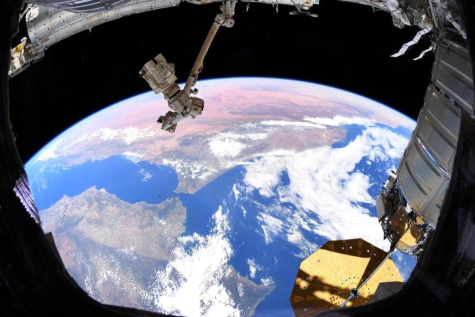 Einzigartig: Der Blick aus dem Weltraum auf die Erde.