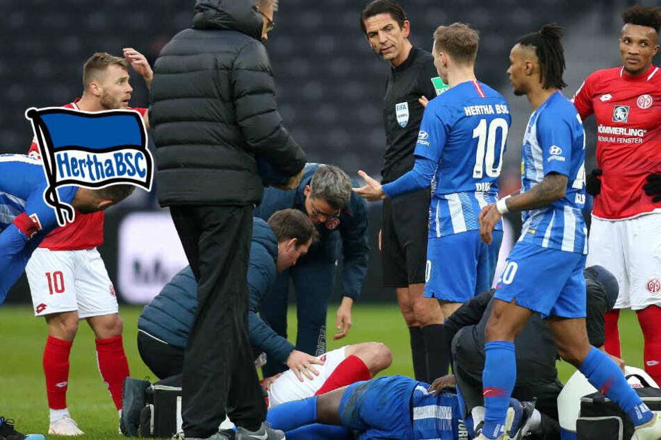 """""""Es sieht nicht gut aus"""": Hertha-Coach über Selke-Verletzung"""