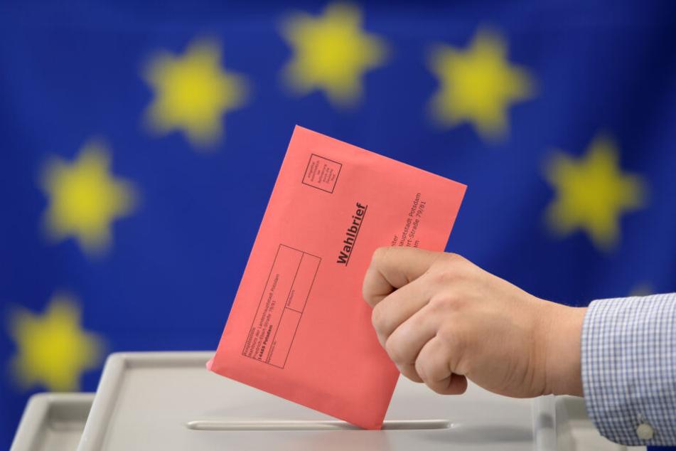 Eine Stimmabgabe für das Europäische Parlament.