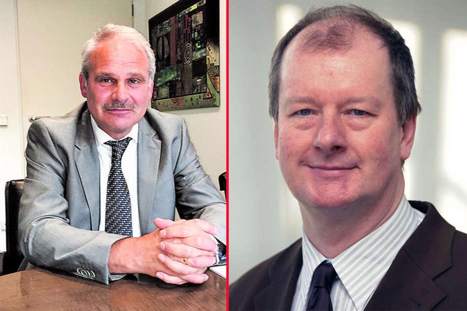 Chef der Metallunternehmer, Dieter Kühnel (li.), und IHK-Sprecher Jörg Deibert sorgen sich.