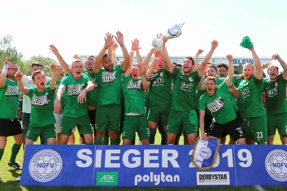 Nach einem Jahr Oberliga feierte Chemie Leipzig die Rückkehr in die viertklassige Regionalliga Nordost.