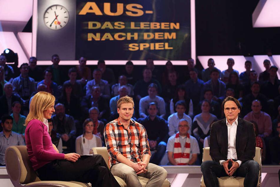 Tobias Rau (34) ist immer mal wieder als Gast im diversen TV-Sendungen, wie hier im ZDF Sportstudio.
