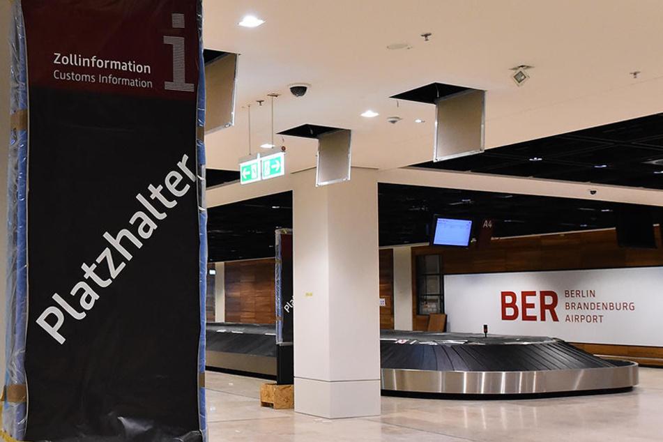 Die Gepäckausgabe im Flughafen Berlin-Brandenburg in Schönefeld. Wann werden hier die ersten Koffer über das Band rollen?