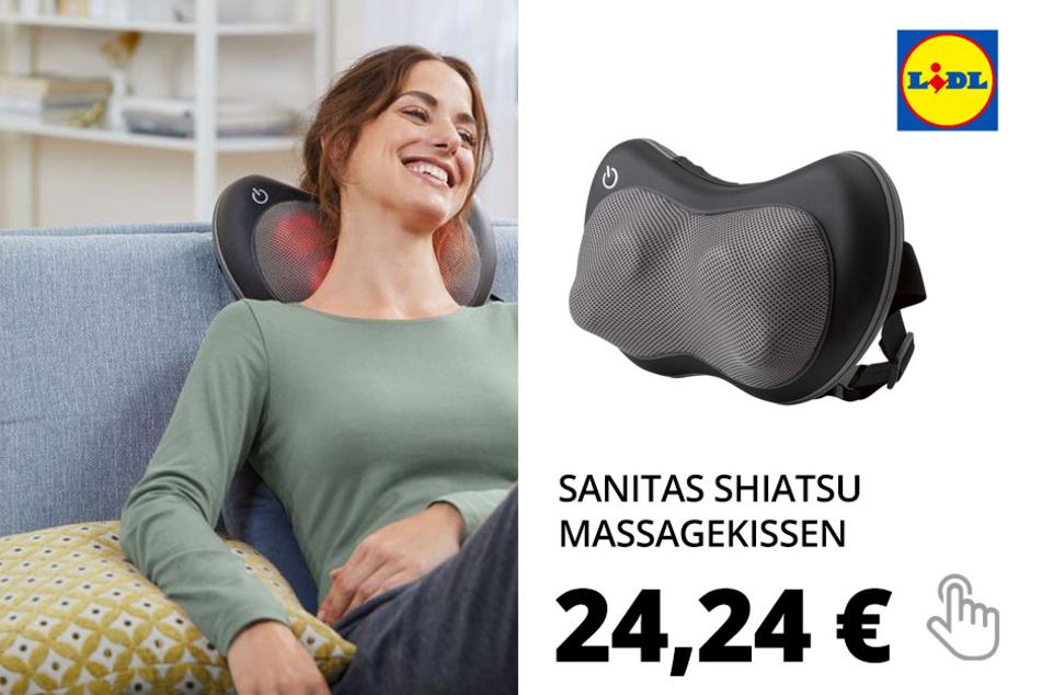 SANITAS Shiatsu Massagekissen, mit 4 Massageköpfen