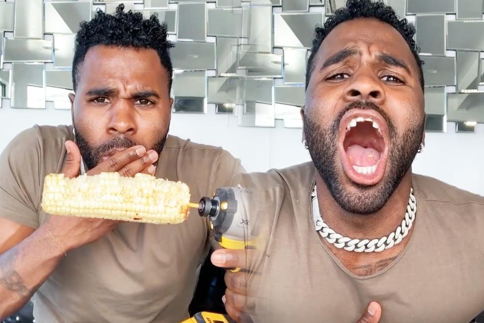 Gestörtes Video: Jason Derulo brechen Zähne beim Essen ab!