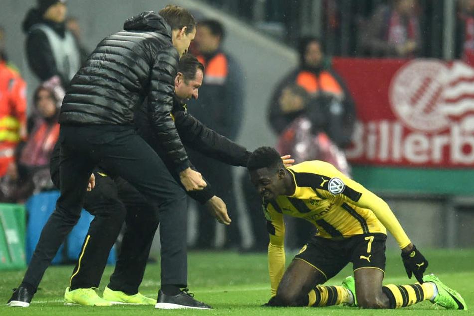 Der BVB feierte natürlich den Siegtorschützen Ousmane Dembélé.