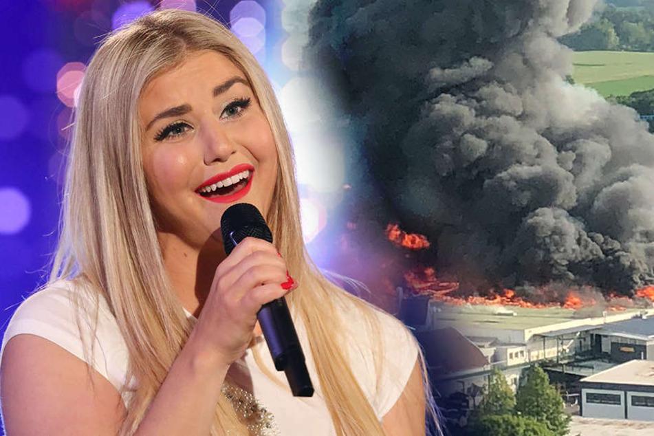 Auch Beatrice Egli (29) war Zeugin des Feuers am Samstagabend.