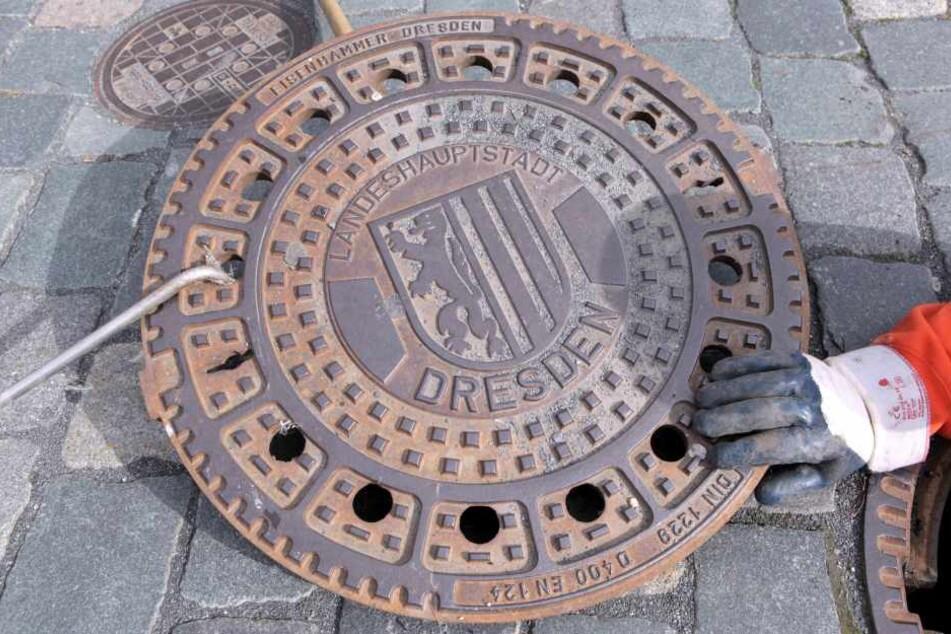 Die Landeshauptstadt Dresden gönnt sich ein Stadtwappen auf dem Gullydeckel. Bald auch Chemnitz?