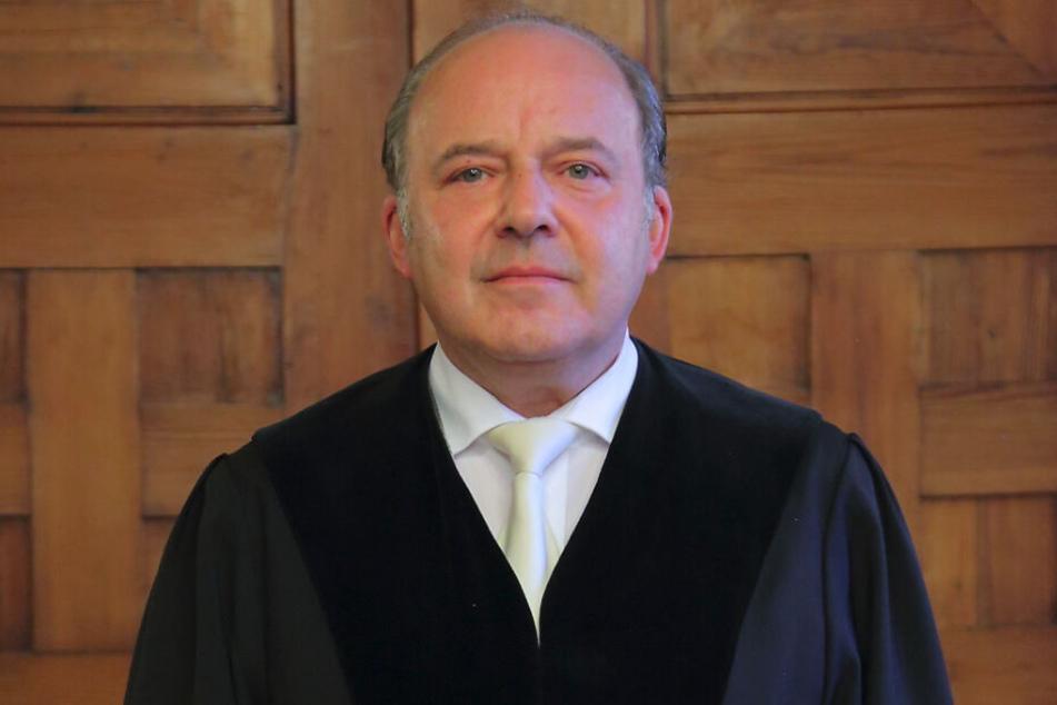 """Richter Dirk Hertle verurteilte den """"Mann vom Stamm der Germaniten""""."""