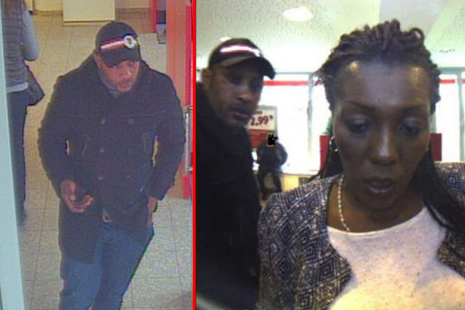 Die Polizei sucht nach diesen beiden mutmaßlichen Betrügern.