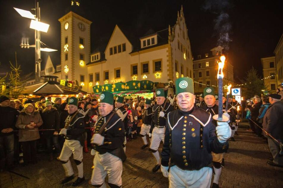 Bergparade in Freiberg.