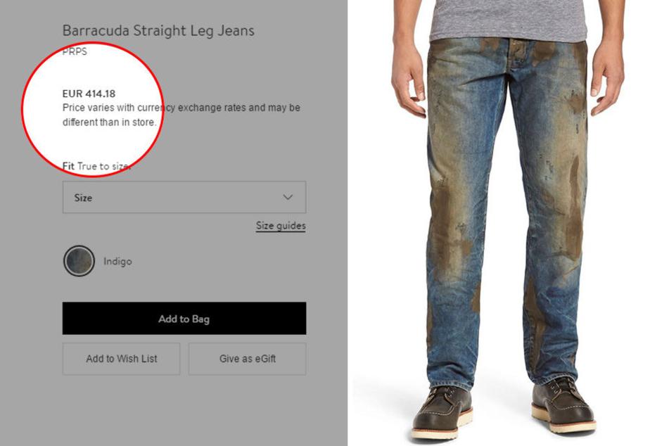Im Ernst? Diese schlammige Hose soll über 400 Euro kosten.
