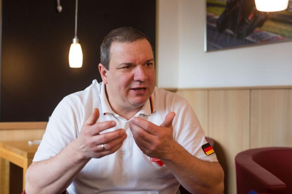 Präsident der sächsischen Handwerkerschaft Roland Ermer (53).