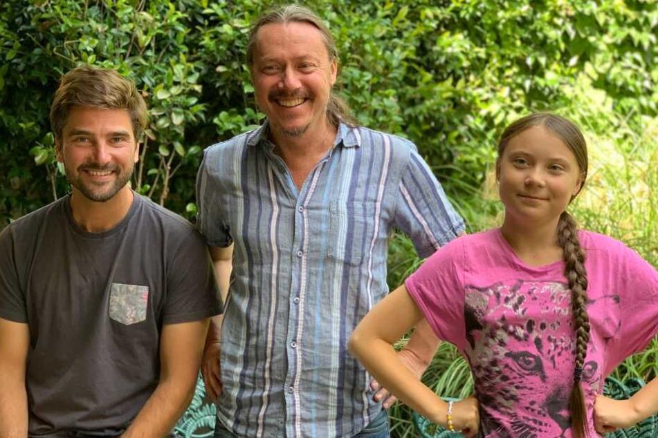 Die Reise tritt Greta gemeinsam mit ihrem Vater Svante und Segler Boris Herrmann.