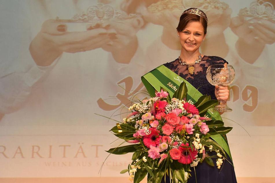 Friederike Wachtel wurde am 5. November 2016 zur 29. Sächsischen Weinkönigin im Zentralgasthof Weinböhla gewählt.