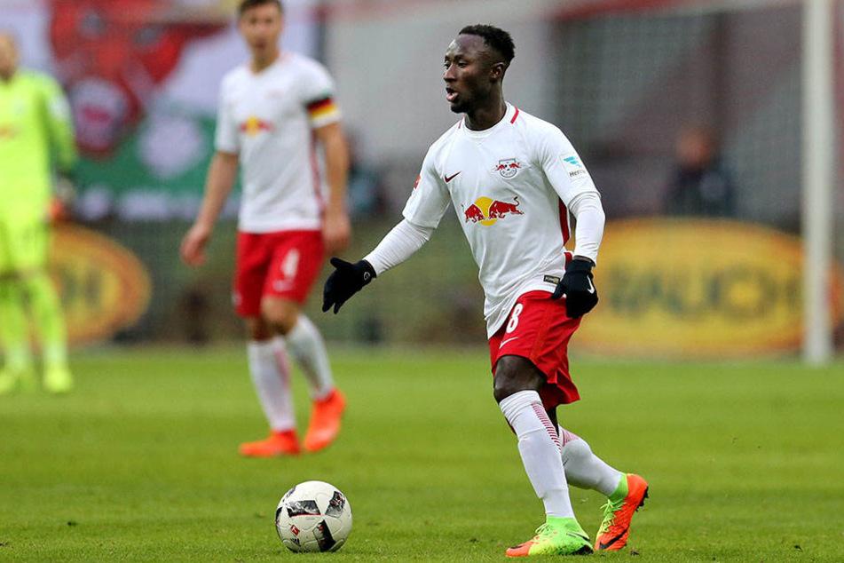 Der FC Liverpool hat seit Wochen ein Auge auf RB Leipzig's Mittelfeldspieler Naby Keita (22) geworfen.