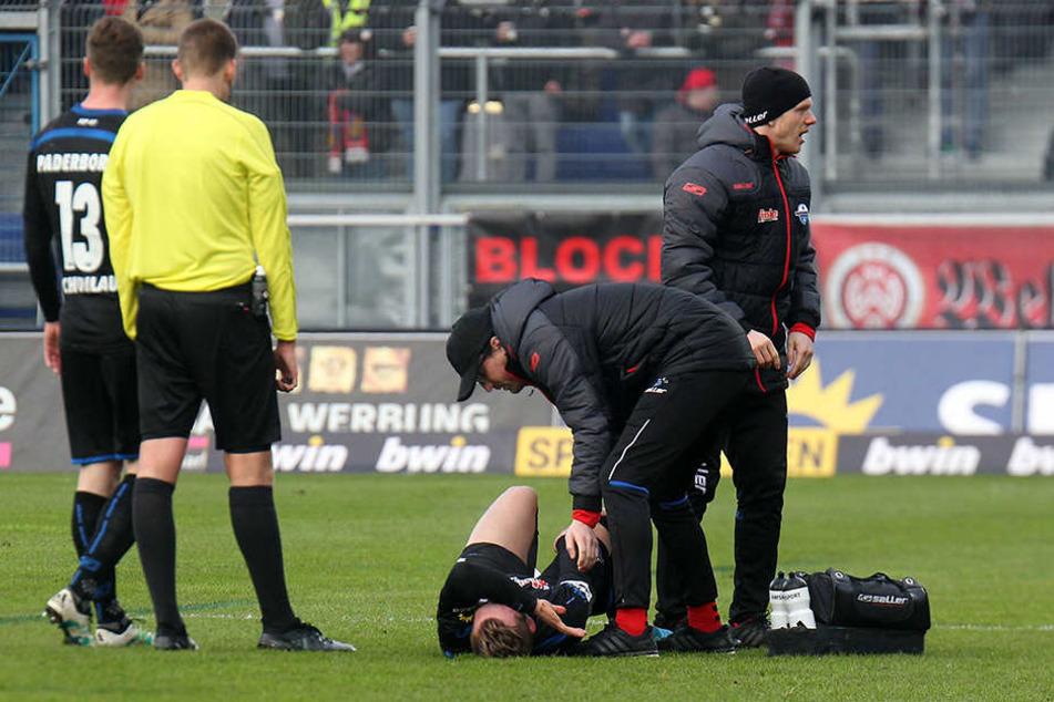 Bereits in der 24. Minute musste Marlon Ritter in Wiesbaden den Platz verlassen.