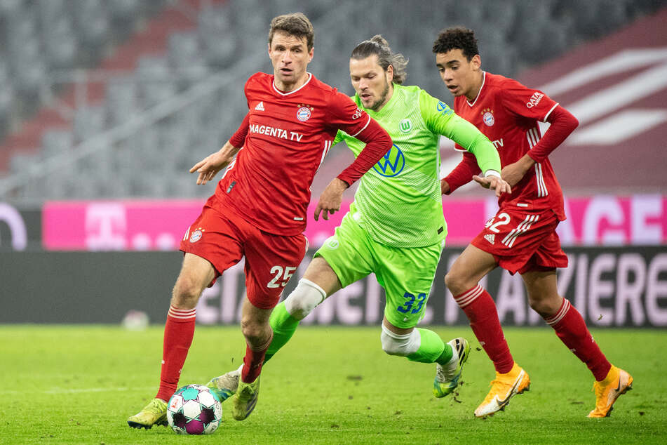 Kehrt Thomas Müller (31, l.) vom FC Bayern München in die Nationalmannschaft zurück? Und wie sieht die Zukunft von Jamal Musiala (r.) aus?