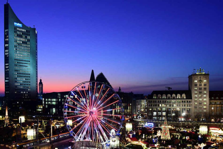 Der Leipziger Weihnachtsmarkt ist vom 24. November bis 22./23. Dezember 2020 geöffnet.
