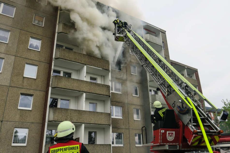Bei dem Brand in Lößnitz kam ein Mann ums Leben.