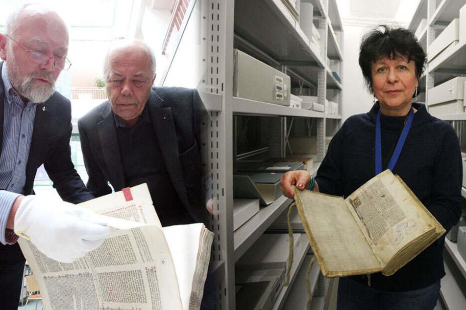 Mehr als 500 Jahre alt: Stadtbibo präsentiert ihre Bücher-Schätze