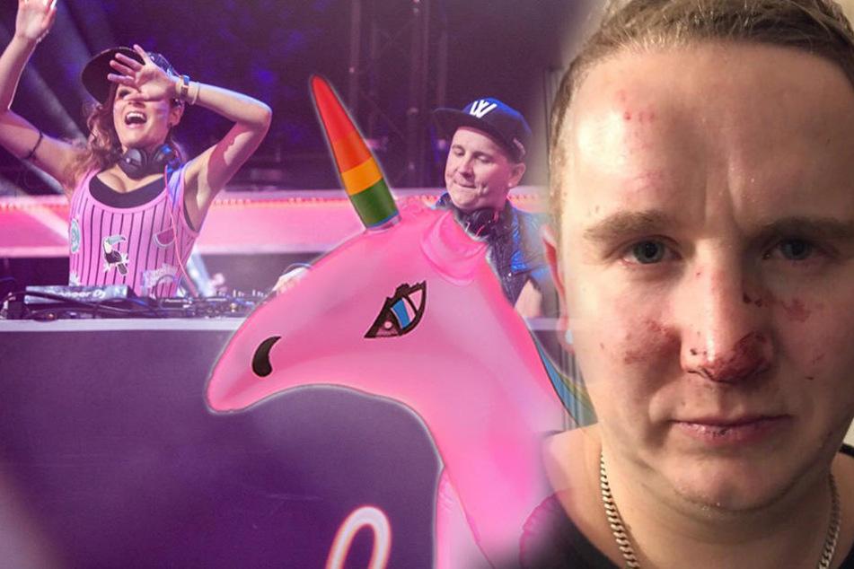 Zoff um Einhorn! Sächsische DJs bei Auftritt verprügelt