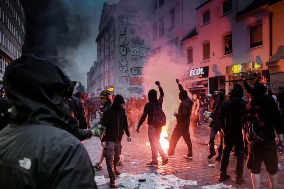 Die Krawalle in Hamburg hatten im Juli für Aufsehen gesorgt. Waren auch Studenten aus Baden-Württemberg dabei? (Symbolfoto)
