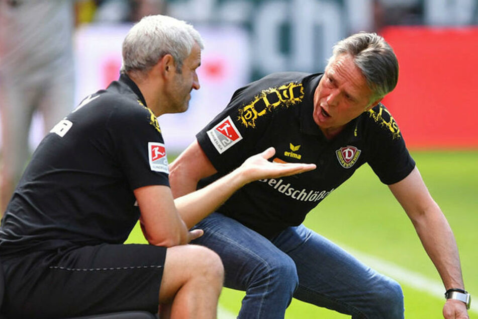 Ein gutes Gespann: Cheftrainer Uwe Neuhaus und sein Co Peter Nemeth (l.). Ab Montag ist das Duo wieder gefragt.