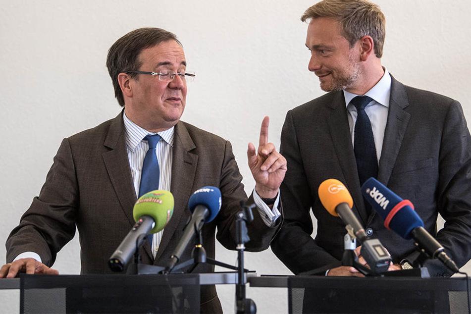 In vielen Punkten sind sich Armin Laschet (56, li.) von der CDU und Christian Lindner (38, re.) von der FDP schon einig.