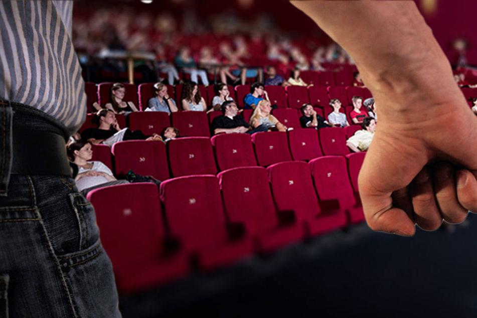 Raucher greifen Frauen im Kino an