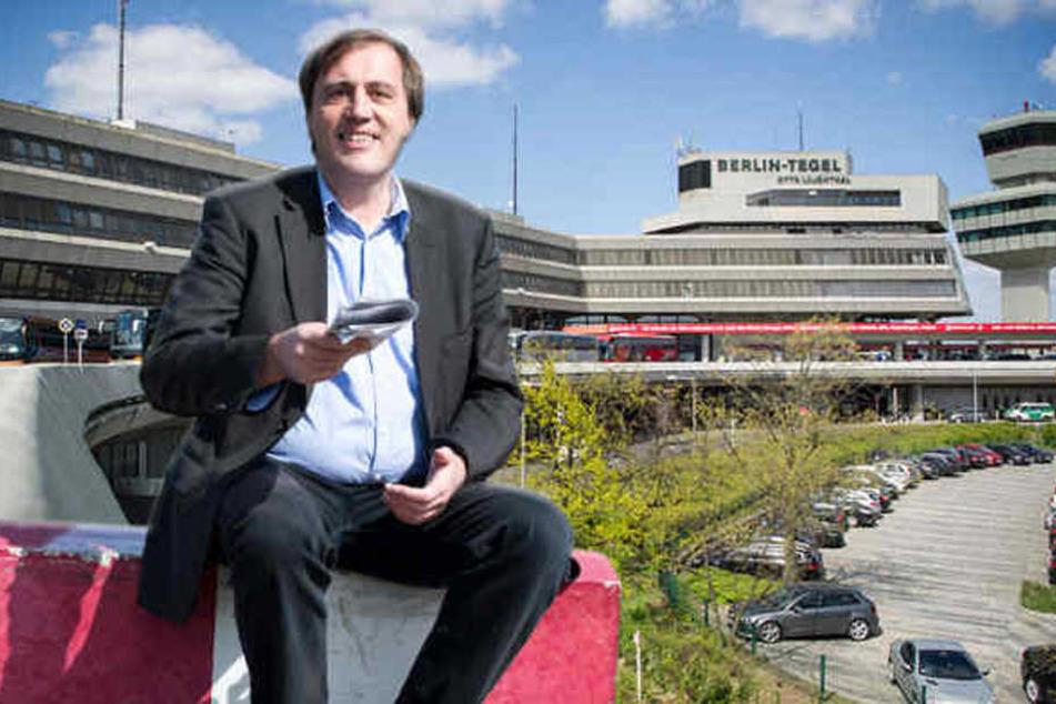 Tilmann Heuser und der BUND kämpfen mit der Kampagne gegen die Offenhaltung Tegels.