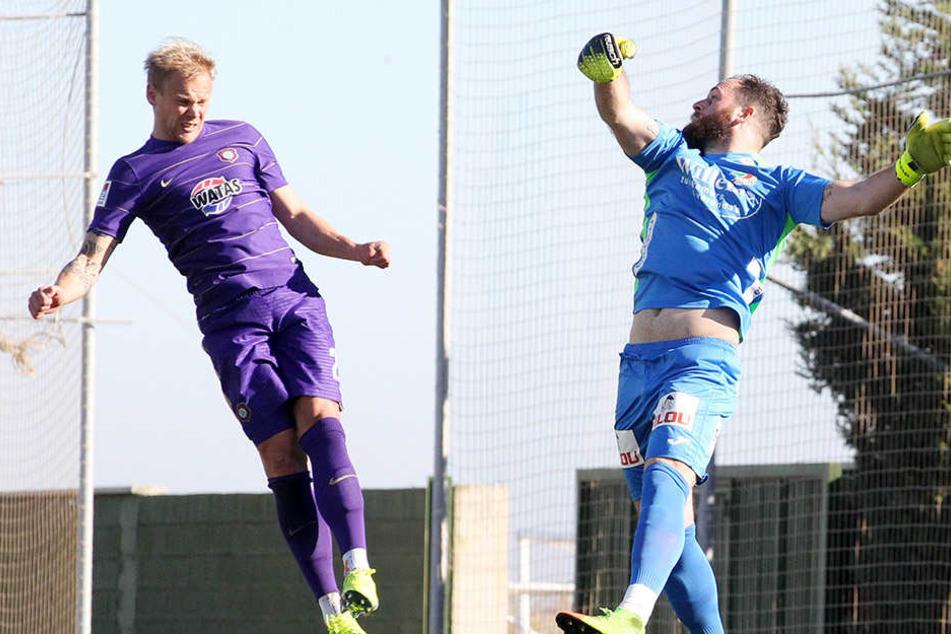 Sören Bertram will in der Rückrunde hoch hinaus mit dem FC Erzgebirge. Doch dafür müssen Tore her - auch von ihm.