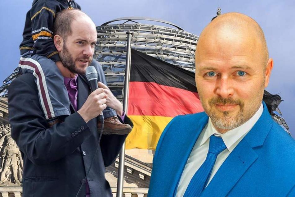 Nico Köhler (41,r.) will für die AfD in den Bundestag - Martin Kohlmann (40) aber eigentlich auch ...