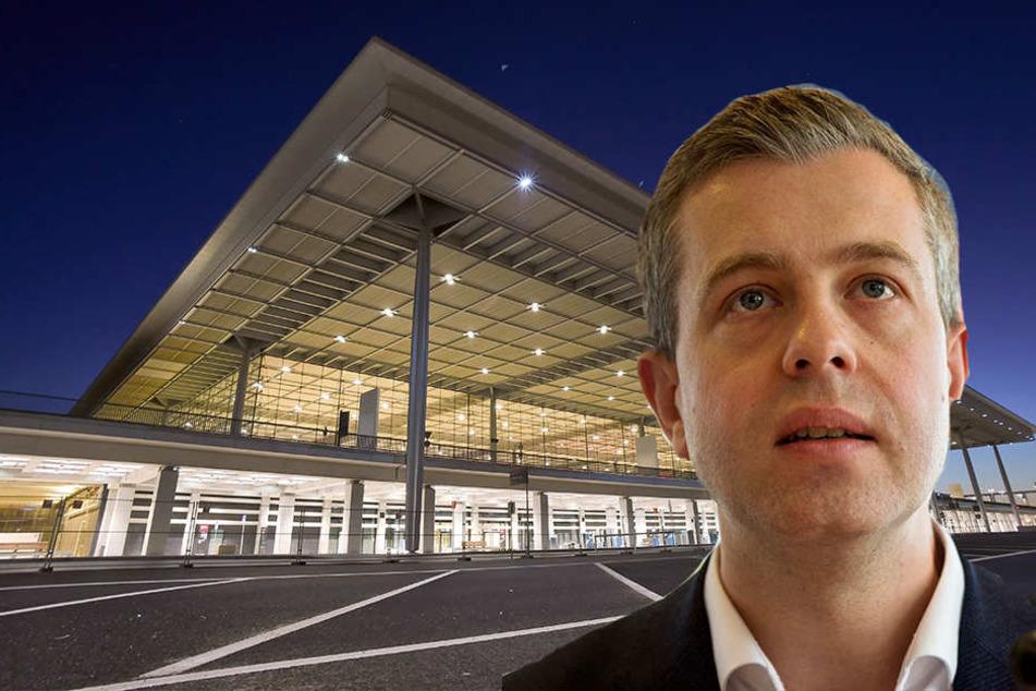 CDU-Generalsekretär Stefan Evers sprach sich für eine Teilprivatisierung des BER aus.