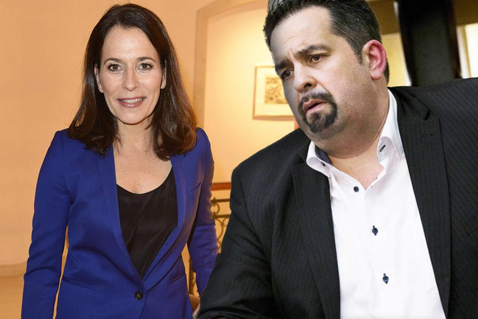 Vorsitzender des Zentralrates der Muslime, Aiman Mazyek (47, re.) übt heftige Kritik an der ARD. (links: Anne Will, 50)
