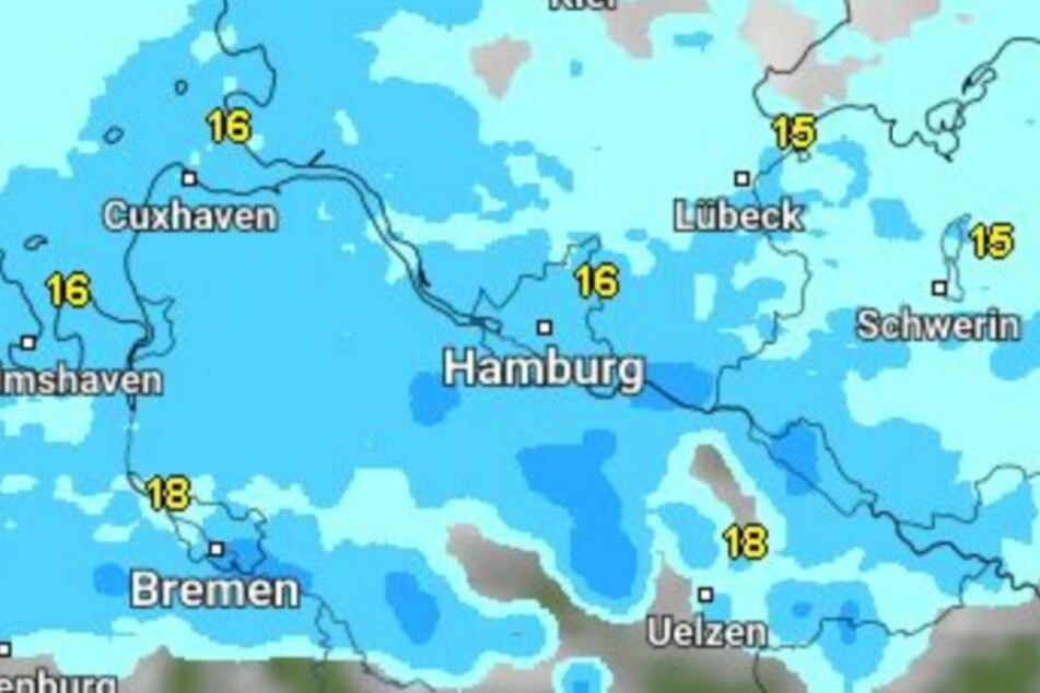 Am Wochenende wird es nass in Hamburg.
