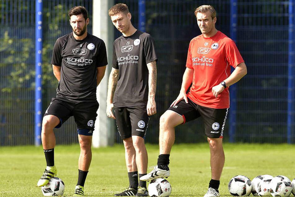 Carsten Rump (rechts) wird vorerst das Training leiten.