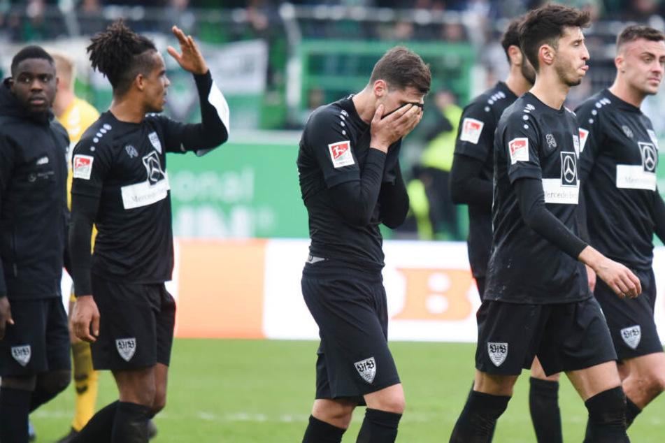 Die Enttäuschung stand den VfB-Profis nach Abpfiff ins Gesicht geschrieben.