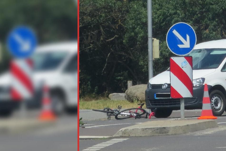 Der Fahrradfahrer wurde leicht verletzt.