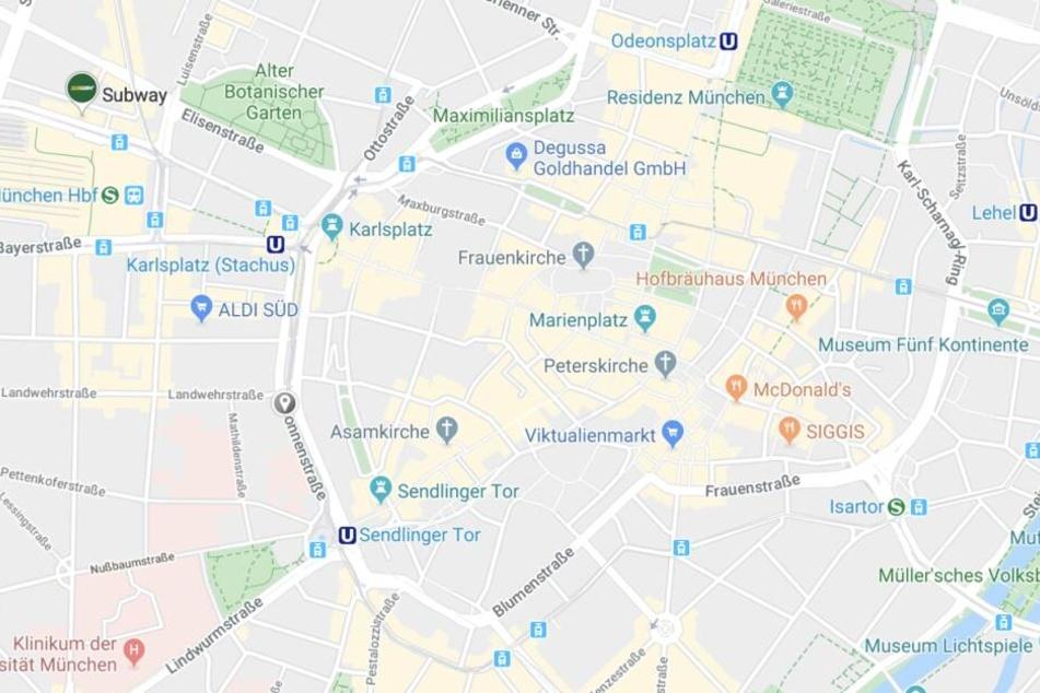 In der Sonnenstraße in München eskalierte ein Streit vor einem Lokal und rief die Polizei auf den Platz.
