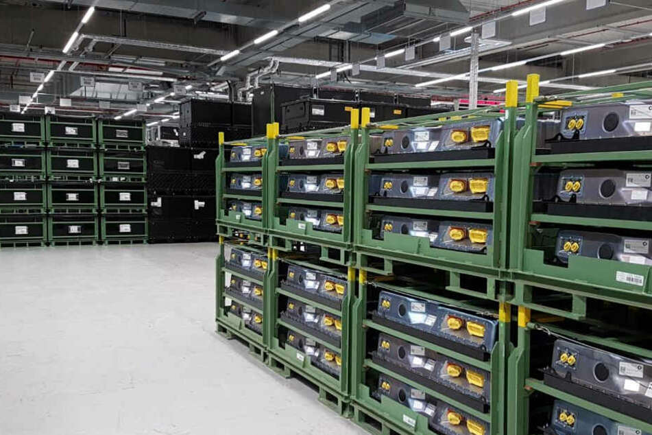 Die Accumotive-Batterie-Fabrik im Kamenz, Werk I. wurde 2012 eröffnet. Hier werden Batterien für den Elektro-Smart gebaut.