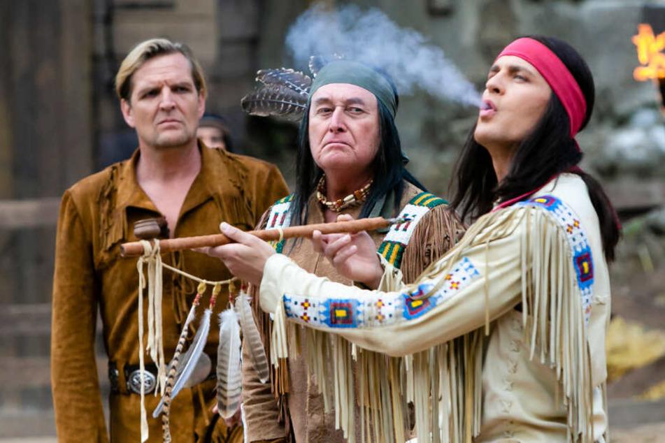 Alexander Klaws (rechts) spielte in diesem Jahr den Apachenhäuptling Winnetou.